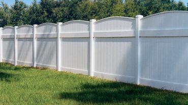 Lakeland Convex Vinyl Fence