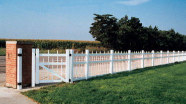 Arlington Gate White Vinyl