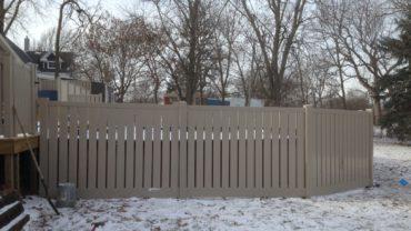 Caribbean Almond Vinyl Fence