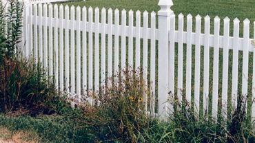 Georgetown Vinyl Fence with Gothic Caps