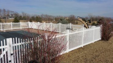 Hampton Step Vinyl Fence