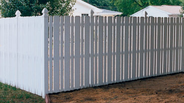 Hanver Vinyl Fence with Gothic Caps