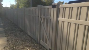 Kensington 6' tall Adobe Vinyl Fence