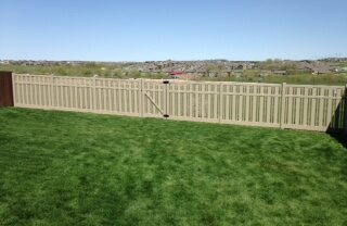 Kensington Adobe Vinyl Fence with Gate