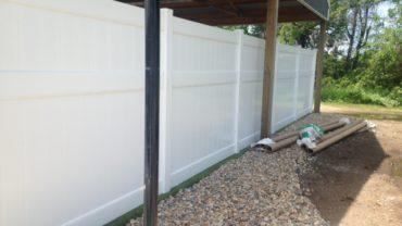 Lakeland 8' tall Vinyl Fence
