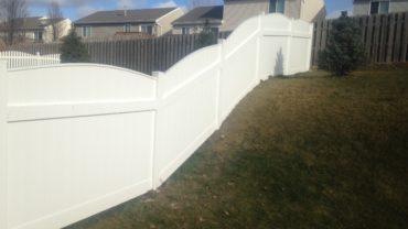 Lakeland Convex 6' Vinyl Fence