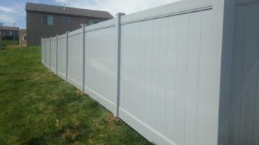 Lakeland Gray 6' Vinyl Privacy Fence