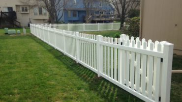 Missouri 4' tall White Vinyl Fence
