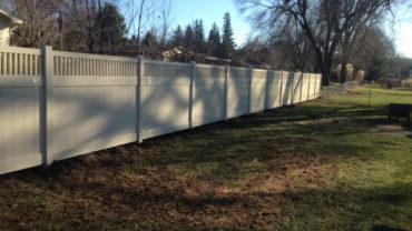 Montauk Almond 6' tall Vinyl Fence