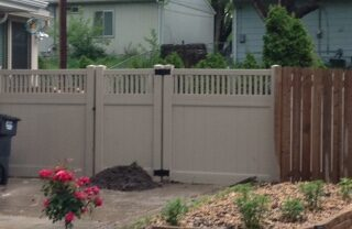 Montauk Almond 6' tall Vinyl Fence