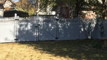Montauk Scallop Vinyl Fence Gray