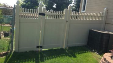 Montauk Scallop Vinyl Fence with Gothic Caps
