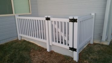 Pacific 3' Gray Vinyl Fence