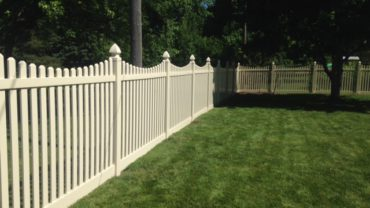 Potomac 6' Almond Vinyl Fence