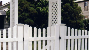 Potomac Fence with Arbor