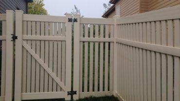 Rochester 6' Almond Vinyl Fence