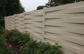 Windsor Almond Vinyl Fence