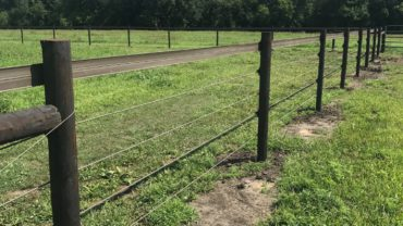 Black Magnificent Farm Fence