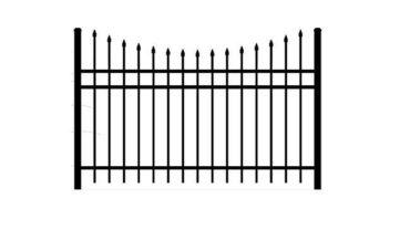 0131 Concave Aluminum Fence