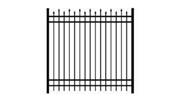 0142 Aluminum Fence Alternating Spears