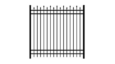 2142 Aluminum Fence Alternating Spears