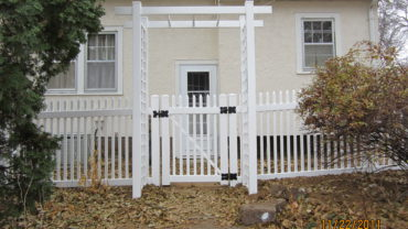 Atlantic White Vinyl Fence