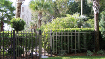 1132 Aluminum Fence with Triad Finials