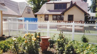 Clayton Fence White Vinyl
