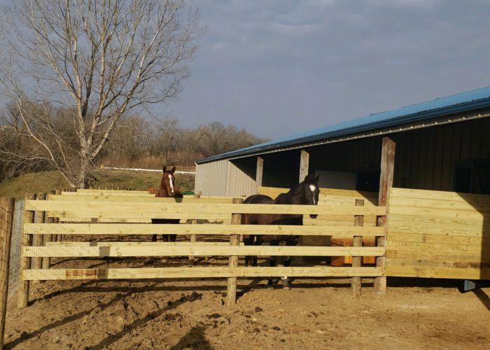 Custom Wood Ag Fence