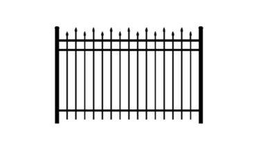 0132 Aluminum Alternating Spears 3 Rail